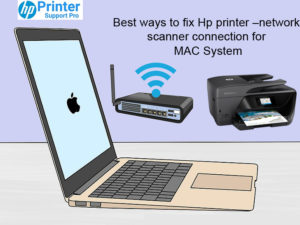 hp printer network scanner connection for MAC system