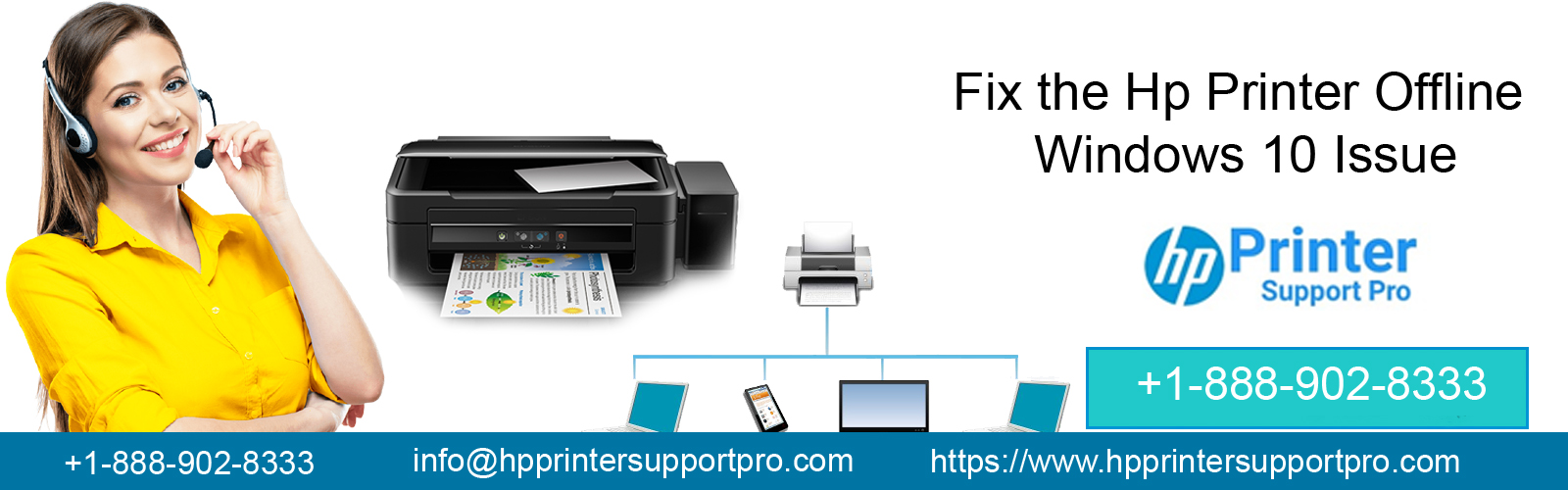 1-888-902-8333-Fix the Hp Printer Offline Windows 10 issue