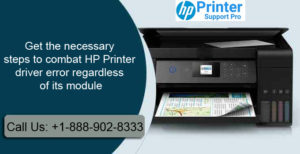HP Printer driver error regardless of its module