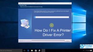 Fix A Printer Driver Error