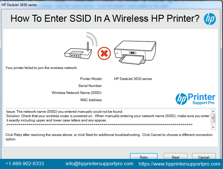 Enter SSID In A Wireless HP Printer  HP Printer Support