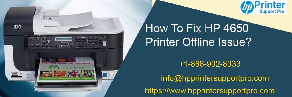 Fix HP 4650 Printer Offline Issue @ 1-888-902-8333