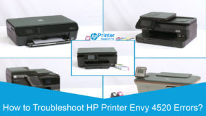 HP Printer Envy 4520 Errors