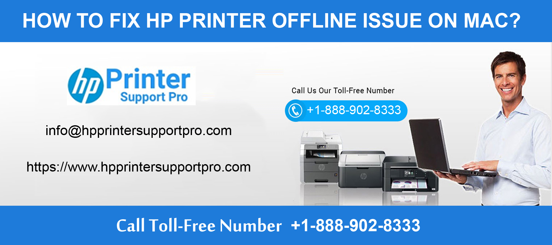 1-888-902-8333-fix HP Printer Offline Issue on Mac