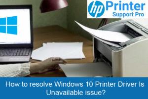 resolve Network Printer Offline Windows 10 connecting issue