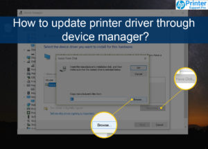 update printer driver through device manager