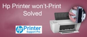 Hp printer wont-print solved