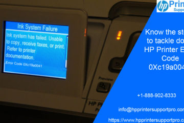 HP Printer Error Code 0Xc19a0041