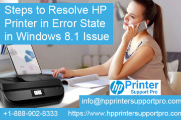 HP printer in error state in windows 8.1 issue