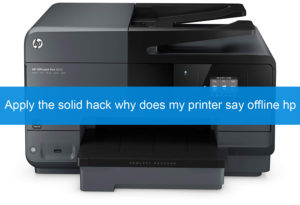 why does my printer say offline HP