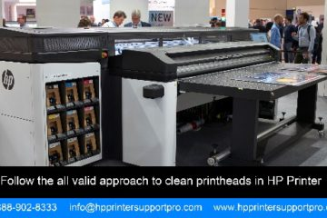approach to clean printheads in HP Printer