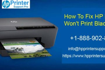 Fix HP Printer Won't Print Black Issue