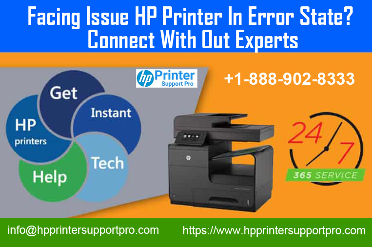 Facing Issue HP Printer In Error State? call 1-888-902-8333