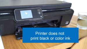resolving issues when printer does not print black or color