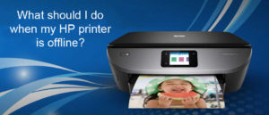 What should I do when my HP printer is offline?