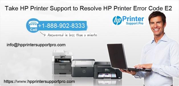 Take HP Printer Support to Resolve HP Printer Error Code E2