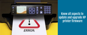 update and upgrade HP printer firmware
