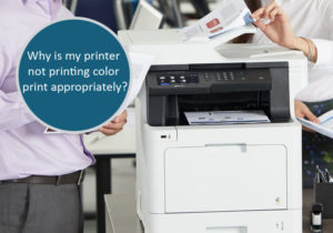 printer not printing color print appropriately