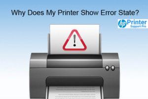 My Printer Show Error State