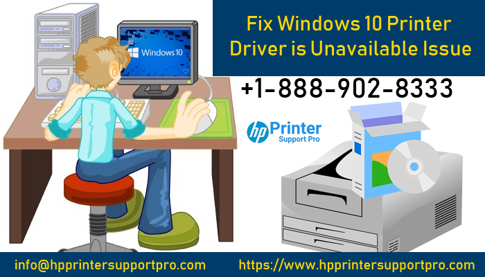 fix windows 10 printer driver is unavailable issue hp support