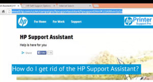 I get rid of the HP Support Assistant