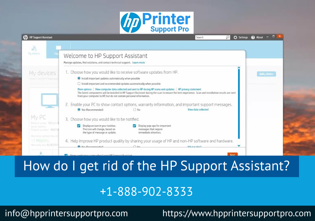 I get rid of the hp printer assistant download, HP Support Assistant