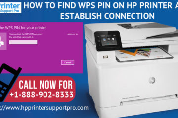 find WPS Pin on HP Printer and Establish
