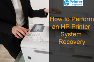 HP printer System Recovery