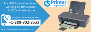 USB Connection is not working on HP LaserJet P1102w Printer