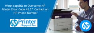 HP Printer error code 41.3
