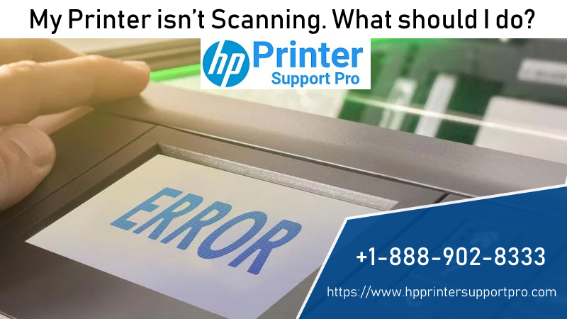 My printer isn't scanning  What should I do? HP Support