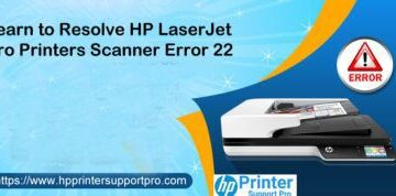 HP LaserJet pro Scanner error 22