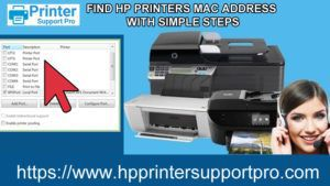 HP printer mac address