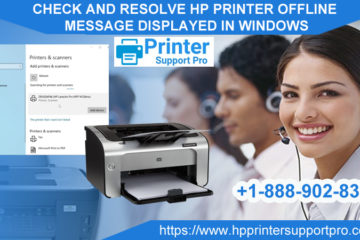 Resolve HP printer offline message displayed in windows