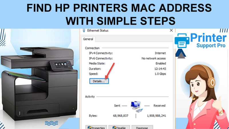 Find HP Printer's MAC Address with Simple Steps  HP Printer