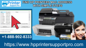HP Printer's MAC Address with Simple Steps
