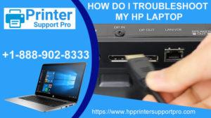 I troubleshoot my HP laptop