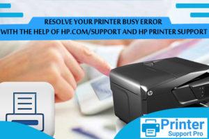 HP Printer Busy Error