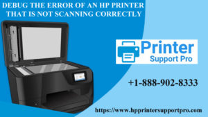 HP printer that is not scanning correctly
