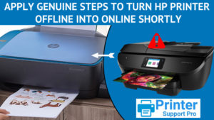 steps to turn HP printer offline into online shortly