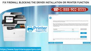 : Firewall Blocking Driver Install or Printer Function