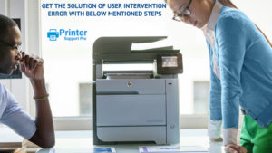 solution of user intervention error with