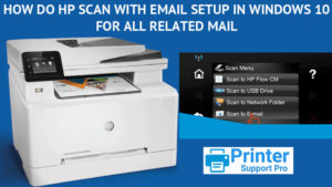 HP scan with Email setup in windows 10