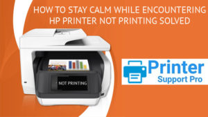 HP Printer Not Printing Solved