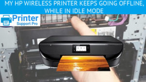 My HP wireless printer keeps going offline