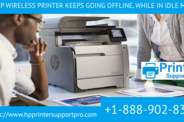 My HP wireless printer keeps going offline, while in idle mode