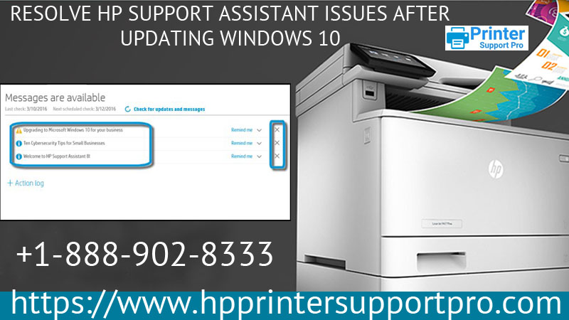 Resolve HP Support Assistant issues after updating Windows 10