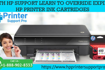With HP Support learn to override expired HP Printer ink cartridges