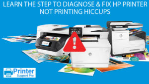 Learn the step to Diagnose & Fix HP Printer Not printing hiccups