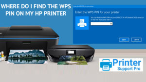 Find The WPS Pin On My HP Printer